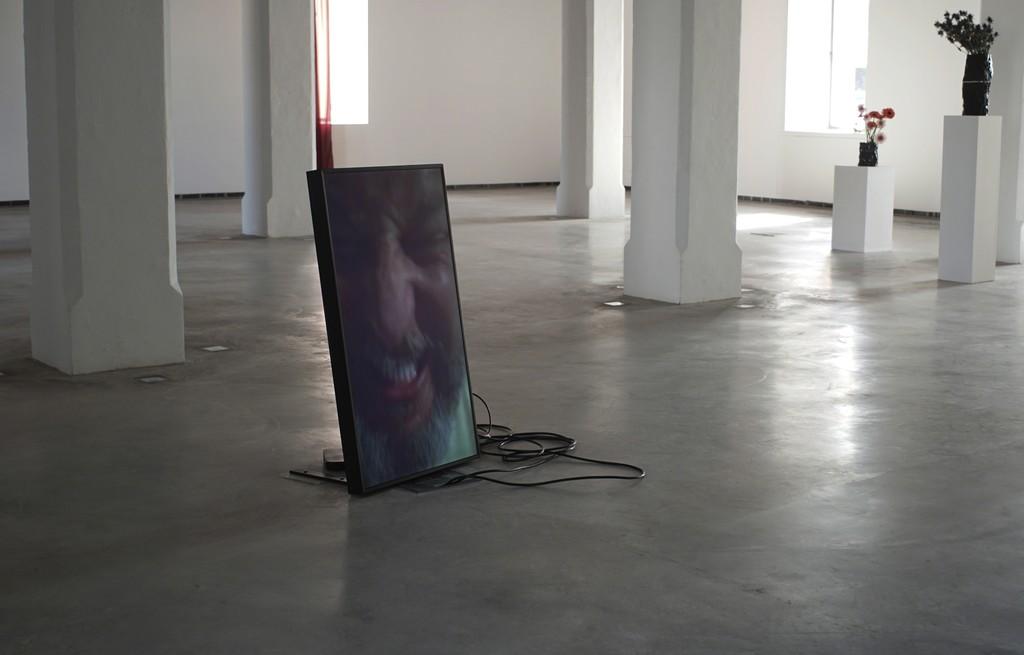 "Installation view of Douglas Gordon & Tobias Rehberger, ""After the After, 2015 at MACE Ibiza."" Museu d'Art Contemporani d'Eivissa. © the artists / Studio lost but found / VG Bild-Kunst, Bonn 2015. Photo Studio lost but found / Bert Ross."