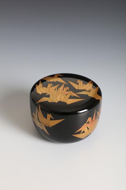 Ippyōsai VII Eizō, 'Tea Caddy with Origami Cranes (T-4386)', Showa era (1926–89)-1980s, Erik Thomsen