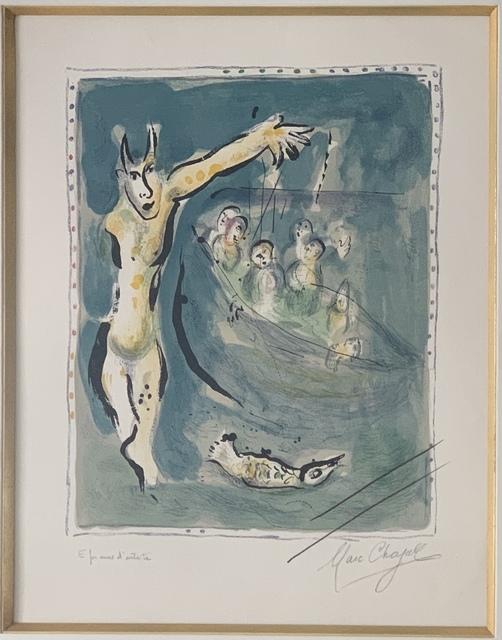 Marc Chagall, 'Près des eaux d'Aulis blanches de remous quand les voiles carguées', 1967, Puccio Fine Art