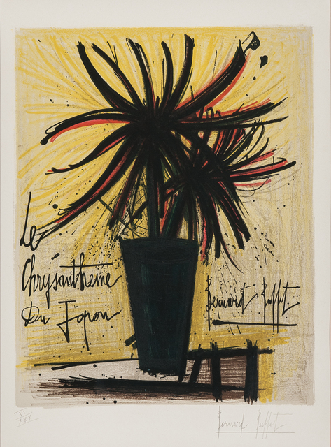 Bernard Buffet, 'Le chrysanthème du Japon', 1966, Skinner