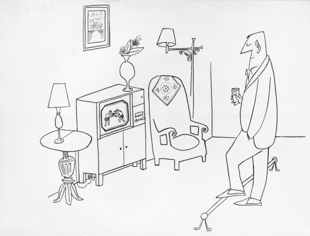 Saul Steinberg, 'The Home Sports Bar', ARS/Art Resource