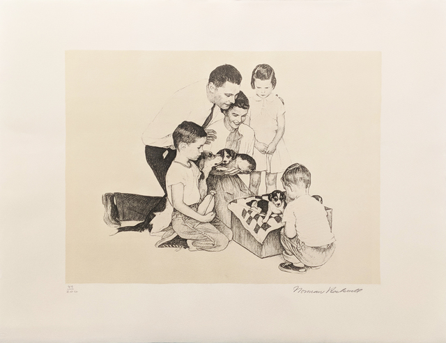 Norman Rockwell, 'PUPPIES', 1973, Gallery Art