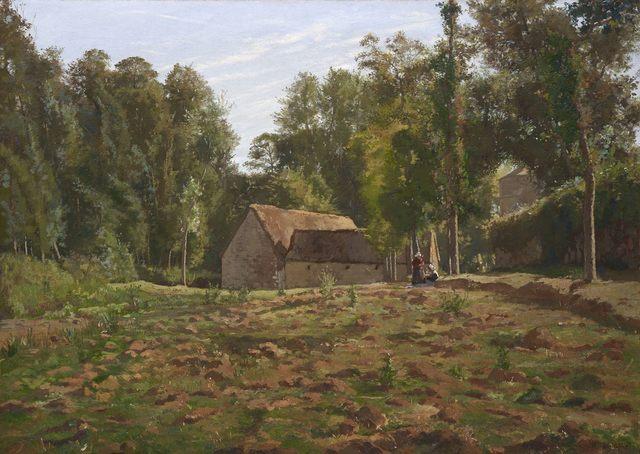 , 'Paysage à la ferme,' ca. 1885, Stoppenbach & Delestre