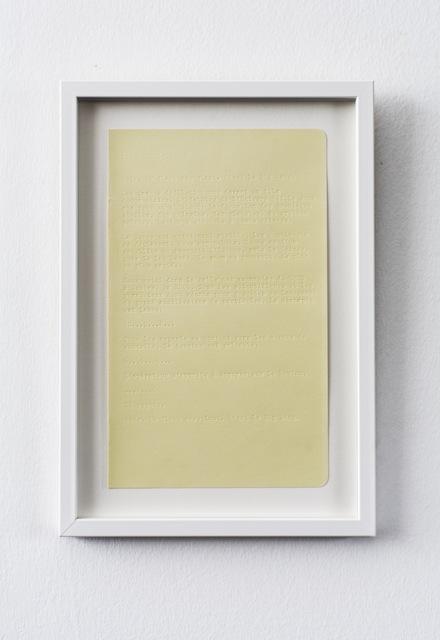 , 'Diagrammes,' 2016, Galerie Anne-Sarah Bénichou