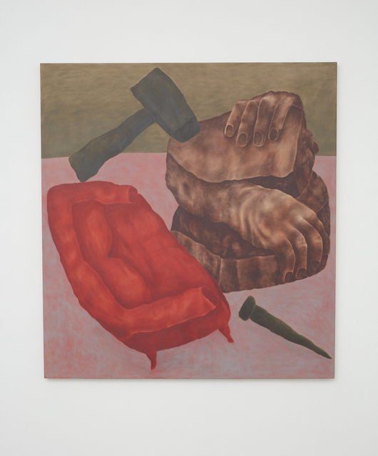 , 'Couch and Carving,' 2017, NINO MIER GALLERY