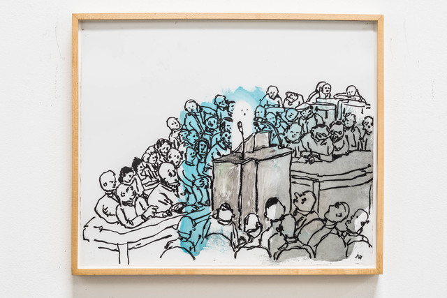 , 'Ghost/Press Conference,' 2014, Rosamund Felsen Gallery