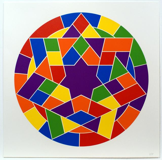 Sol LeWitt, 'Tondo 5 (7 point star)', 2002, Bernard Jacobson Gallery