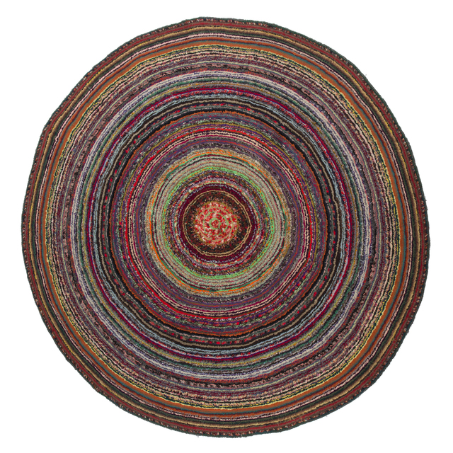 , 'Circular Graphic Rag Rug,' ca. 1950, WYETH