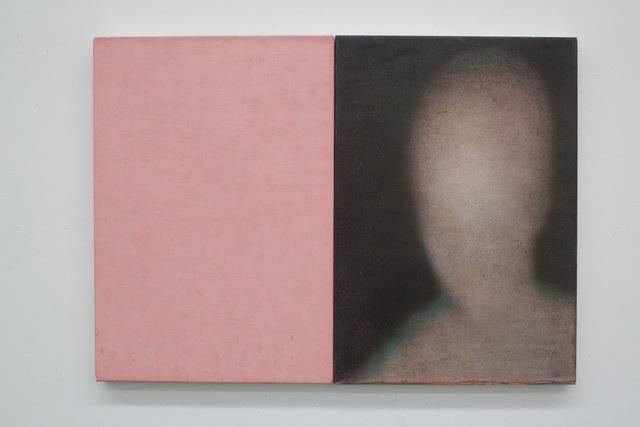 , 'kopf + rosa,' 2015, Galleria Doris Ghetta