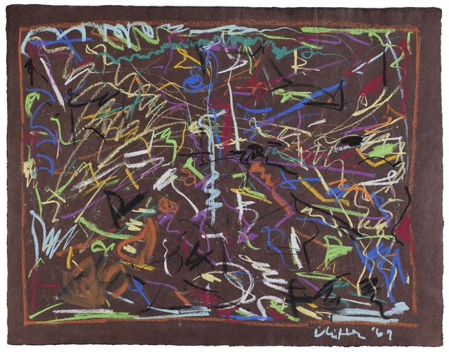 Jack Whitten, 'Untitled', 1969, Drawing, Collage or other Work on Paper, Pastel on brown paper, Michael Rosenfeld Gallery