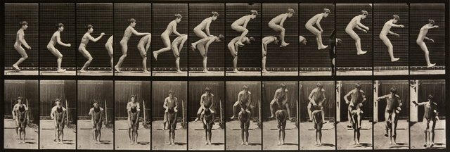 , 'Animal Locomotion: Plate 168 (Two Boys Performing a Leap Frog),' 1887, Beetles + Huxley