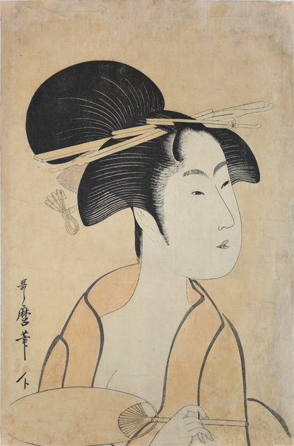 , 'Courtesan Holding a Fan,' ca. 1797, Ronin Gallery