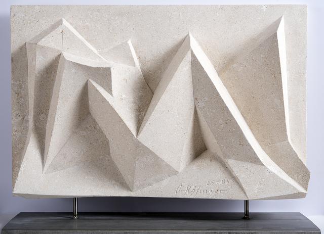 Oskar Höfinger, 'Reclining Nude Landscape ', Sculpture, Sandstone and metal, Odon Wagner Gallery