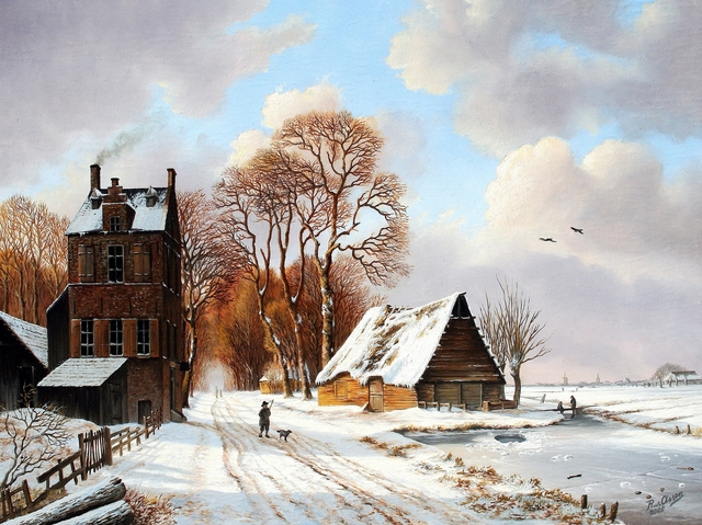 , 'Hostel with walker in the snow,' , ArtBoutique