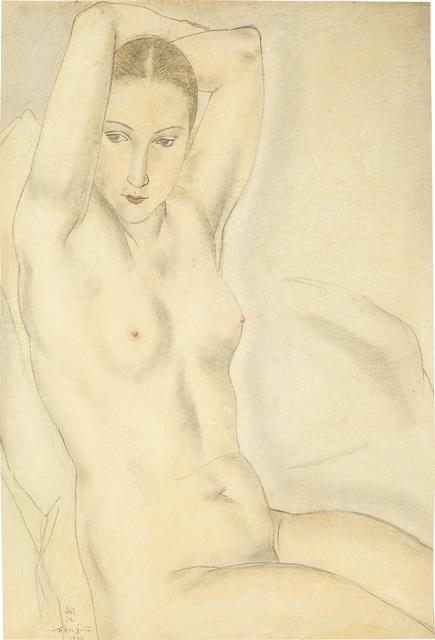 Léonard Tsugouharu Foujita, 'Nu aux bras levés', 1926, Phillips