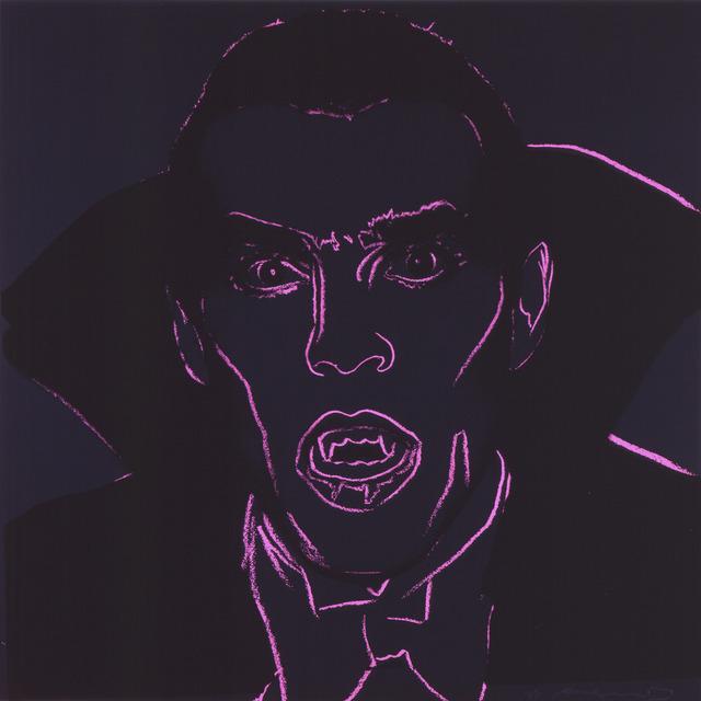 "Andy Warhol, 'Dracula from ""Myths"" portfolio', 1980, Print, Screenprint on Lenox Museum Board; Publisher: Ronald Feldman Fine Arts, Ronald Feldman Gallery"