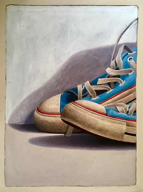 "Santiago Garcia, '""#1025"" Large Scale Cropped Portrait of Old Blue Converse Sneakers', 2010-2017, Eisenhauer Gallery"