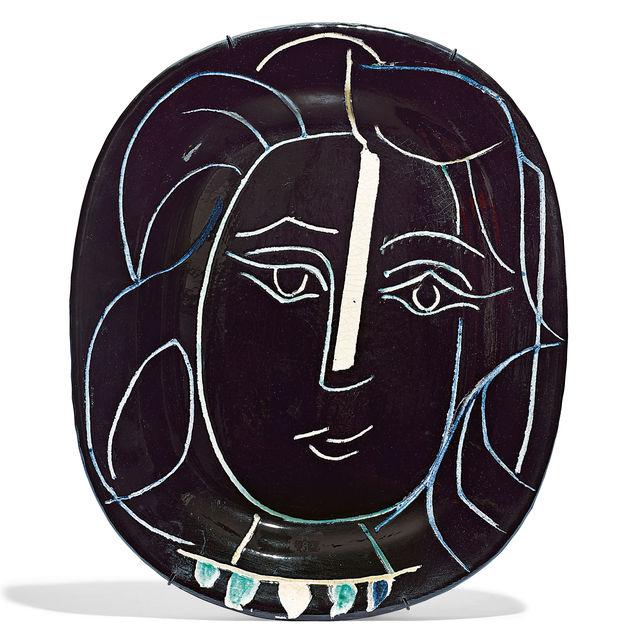 Pablo Picasso, 'Visage de femme', 1953, Design/Decorative Art, Ceramic Plate, Koller Auctions