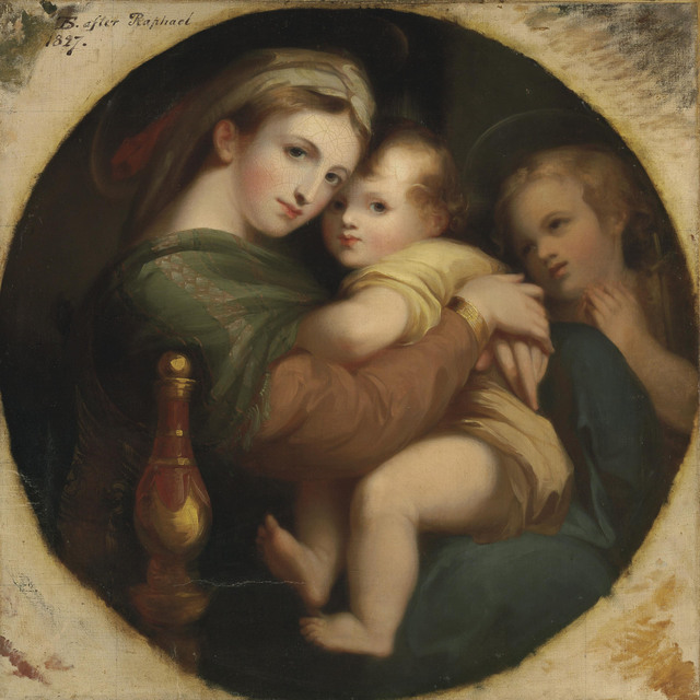 , ''The Madonna of the Chair', in a painted tondo,' , Christie's Old Masters