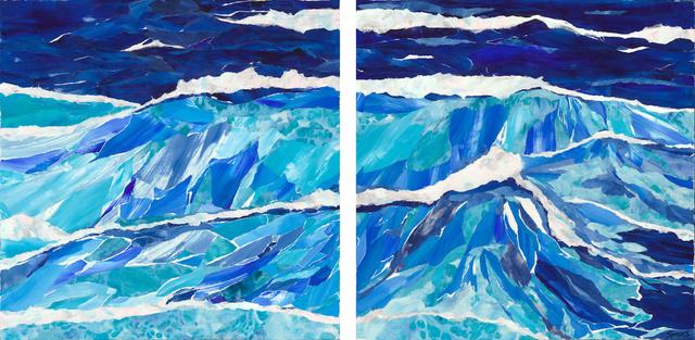 , 'Stormy Seas Diptych,' 2018, Tiffany's Art Agency
