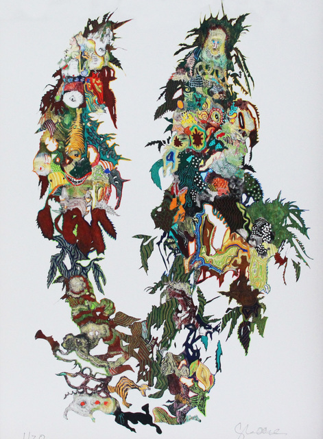 George Mead Moore, 'De  la Serie Cannabis CARPETA HILO CONDUCTOR/ GEMELOS', 2016, Galería Quetzalli