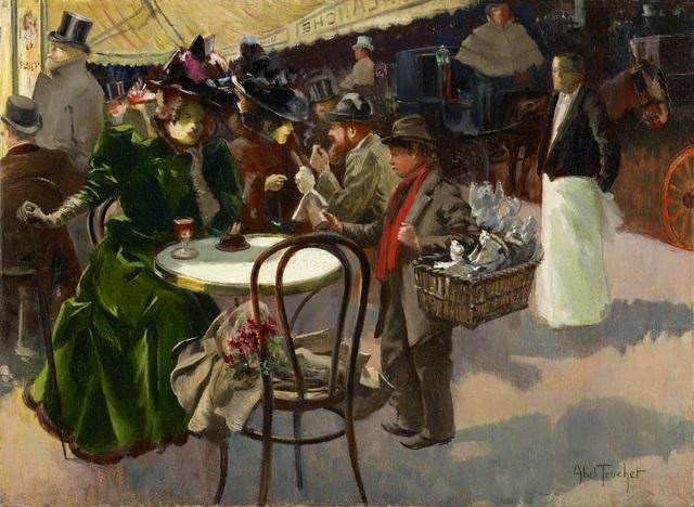 , 'Au café,' , Stoppenbach & Delestre