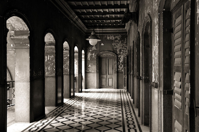 , ''The Eastern Corridor', Colonial period residence, Calcutta,' 2011, Sundaram Tagore Gallery