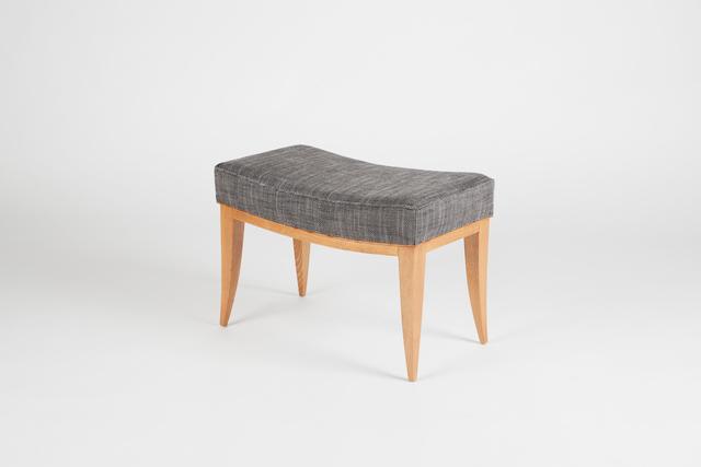 Batistin Spade, 'Unusual Bench with Curved Frame', ca. 1946, Design/Decorative Art, Oak, Maison Gerard