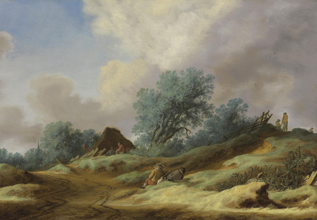 , 'A landscape with peasants on a dune,' 1629, Christie's Old Masters
