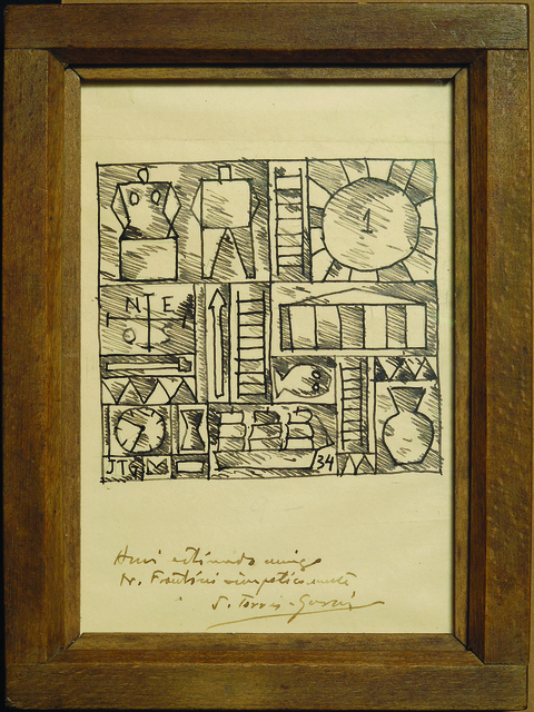 , 'Composición constructiva / Constructivist Composition,' 1934, Museum of Latin American Art, Long Beach