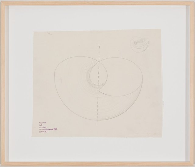 Max Bill, 'Entwurf zu einer Plastik', Ende 1940er, Drawing, Collage or other Work on Paper, Pencil on tracing paper, Galerie Knoell, Basel