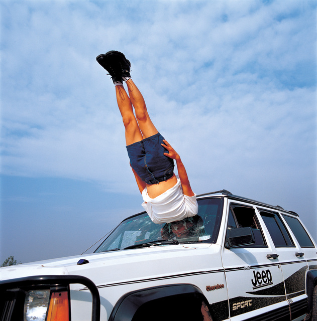 , 'Li Wei falls to the Car 042-01,' 2003, ON/gallery