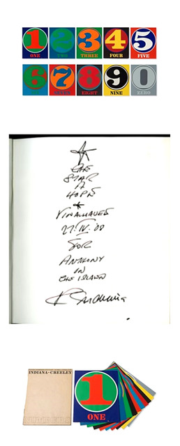, 'Original Signed Drawing and Ink Inscription from Star of Hope, Vinalhaven Maine to Anthony, Numbers (Signed) Limited Edition Book of 10 Silkscreens with f,' 1968-2008, Alpha 137 Gallery