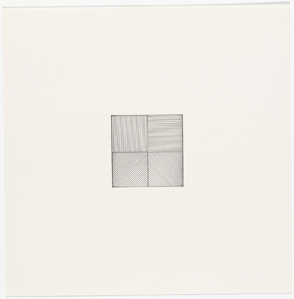 Sol LeWitt, 'Lines in Four Directions', 1976, Stubbs Fine Art