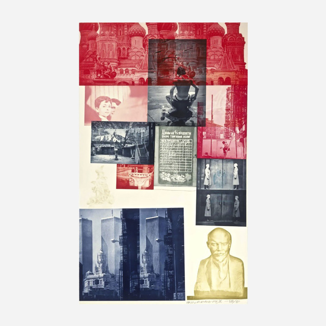 Robert Rauschenberg, 'Soviet/American Array I', 1988, Print, Etching in colors with collage, on Saunders and Oriental rice paper, Artsy x Rago/Wright