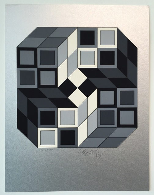 Victor Vasarely, 'Composition Silver', 1980, Gregg Shienbaum Fine Art