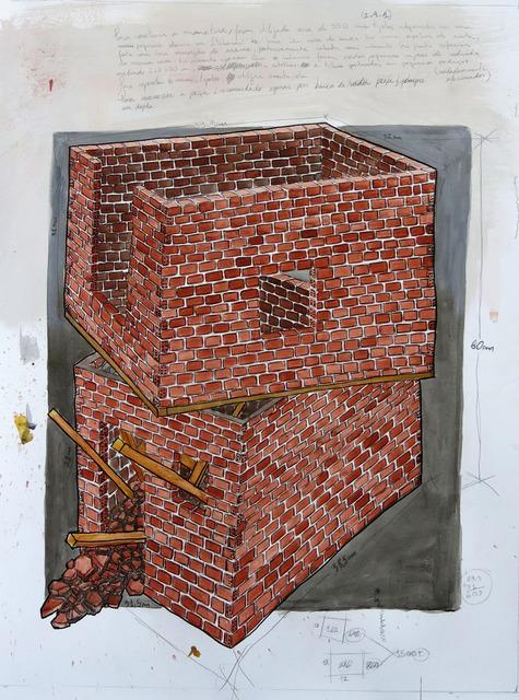 , 'Projeto para miniatura - sobretudo o que nada sobra [Miniature Project - above nothing that remains),' 2014 , Portas Vilaseca Galeria