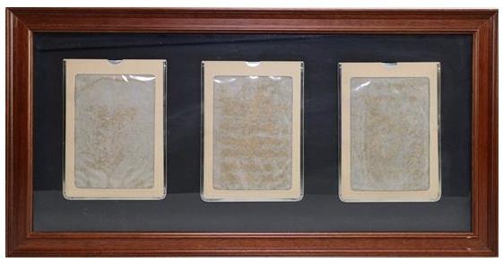 , 'Three magic slate boards mounted on grey card,' 1974-1975, Richard Saltoun