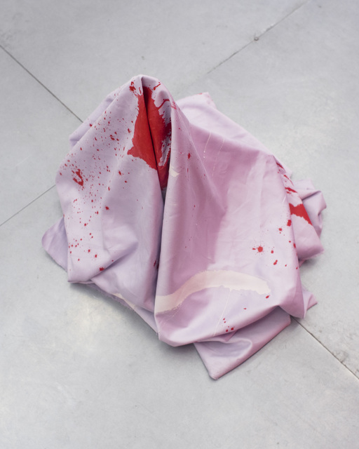 , 'untitled (red flag),' 2018, Rubber Factory