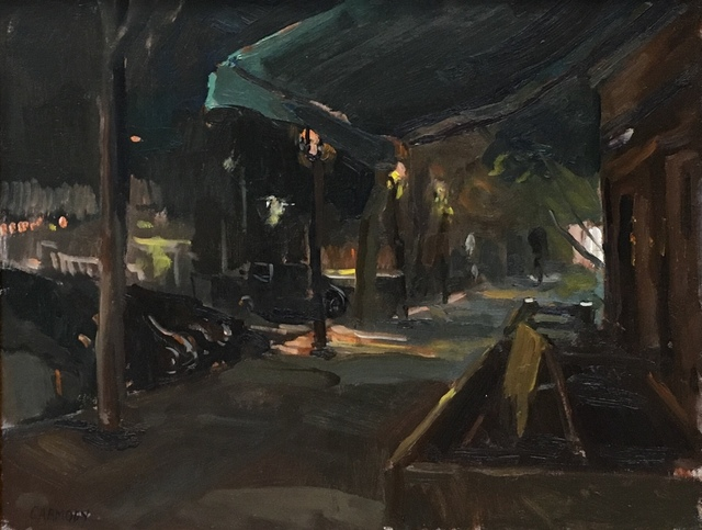 , 'Main Street, Nocturne,' 2018, The Guild of Boston Artists