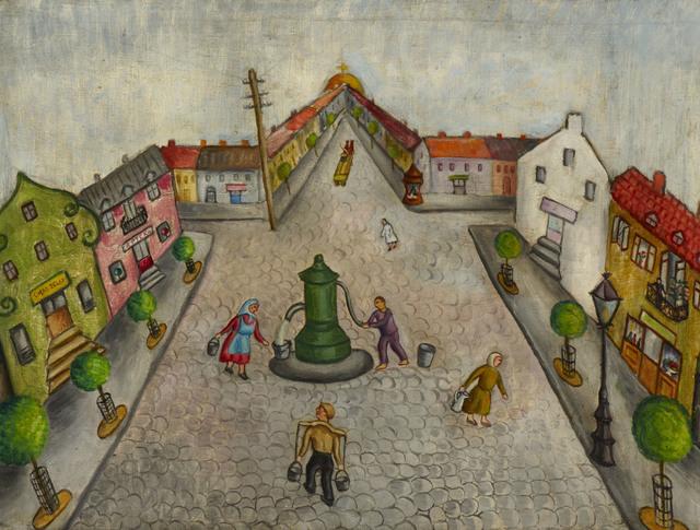 , 'Shtetl,' 1934, Ben Uri Gallery and Museum