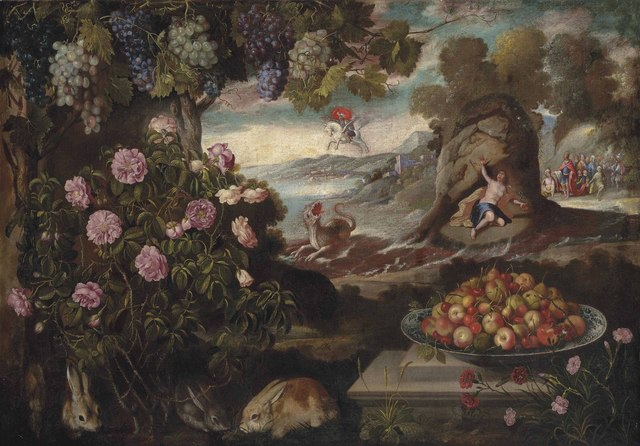 Tomás Hiepes, 'Still Life with Perseus, Andromeda and the dragon of Poseidon', Painting, Oil on canvas, Christie's Old Masters