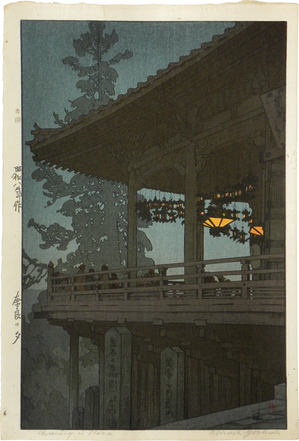 , 'Evening in Nara,' ca. 1933, Scholten Japanese Art