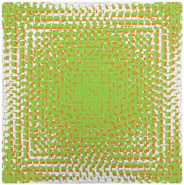 , 'green-orange,' 2018, Galerie Denise René