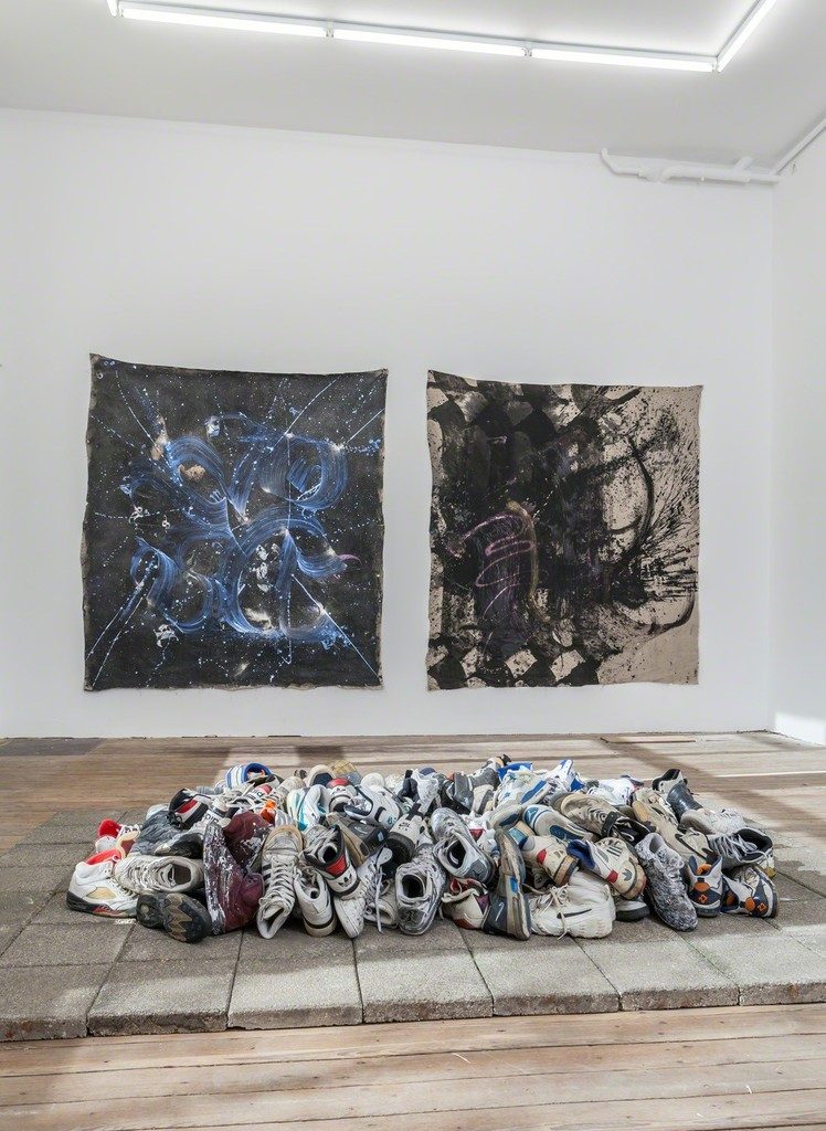 Installation view of Abstract Vandalism with work by Niels Shoe Meulman. Photo Peter Tijhuis.