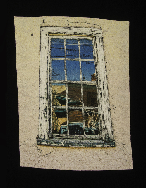 Carol Shinn, 'Window Reflections', 2016, Textile Arts, Embroidery, framed, Duane Reed Gallery