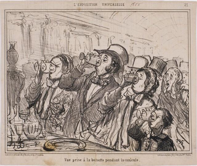 Honoré Daumier, 'L'Exposition Universelle: Vue prise à la buvette pendant la canicule ', 1855, Phillips Collection
