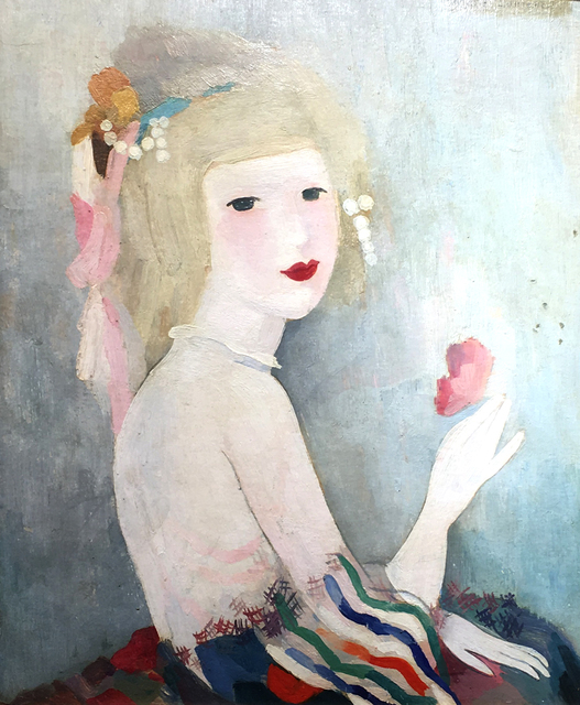Marie Laurencin, 'Portrait de Jeune Femme', 1883-1956, Painting, Oil on Board, Kings Gallery