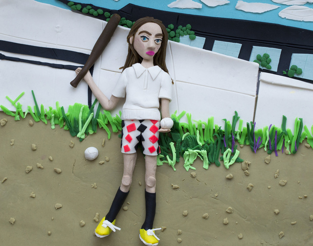 Eleanor Macnair, 'Original photograph: Girl with bat and ball, 1977 by Mark Cohen rendered in Play-Doh', 2019, Atlas Gallery