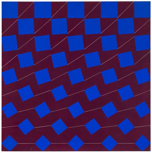 , 'blue-brown,' 1976, Galerie Denise René
